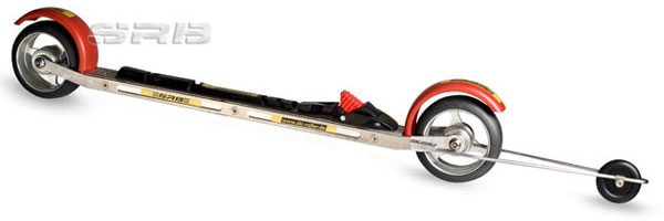 Combi-Rollerski for classic and skating technique